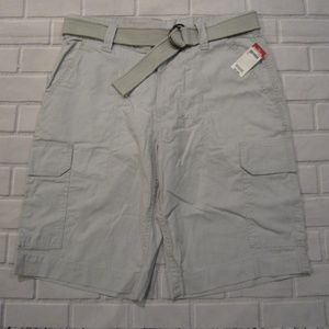 NEW Mens Route 66 Light Gray Size 32 Cargo Shorts